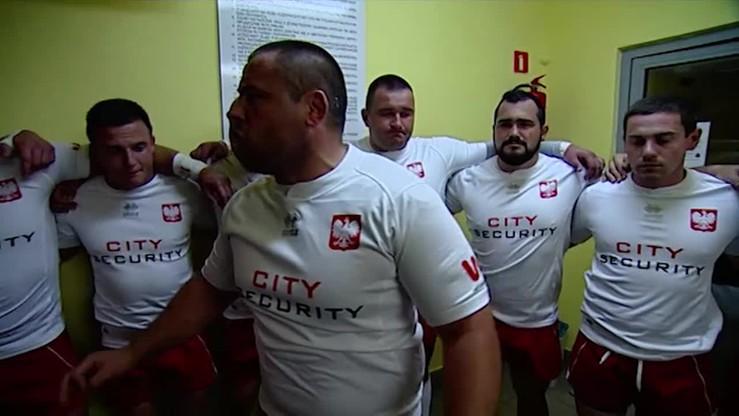 Polscy rugbyści motywują się przed meczem ze Szwecją