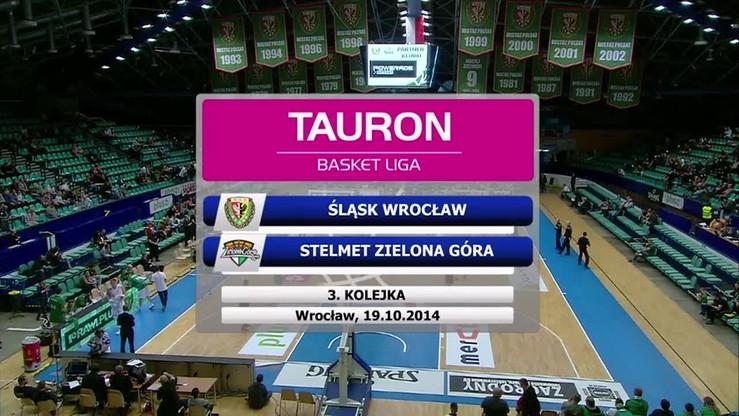 2014-10-19 Śląsk Wrocław - Stelmet Zielona Góra 69:68. Skrót meczu