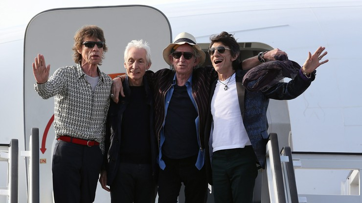 Stonesi przylecieli na Kubę. Zagrają koncert w piątek wieczorem