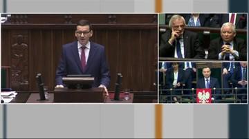 2017-12-12 Morawiecki podczas expose o wycince Puszczy Białowieskiej: Szanujemy postanowienia Europejskiego Trybunału Sprawiedliwości, to postąpimy zgodnie z jego wyrokiem