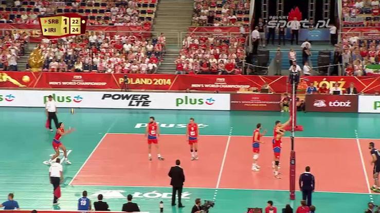 Serbia - Iran 1:3. Skrót meczu