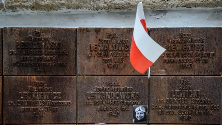 Premier Szydło oddała hołd ofiarom zbrodni katyńskiej