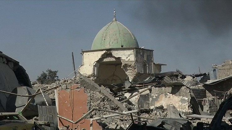 """Premier Iraku po odbiciu meczetu ogłosił """"koniec faszystowskiego kalifatu"""""""