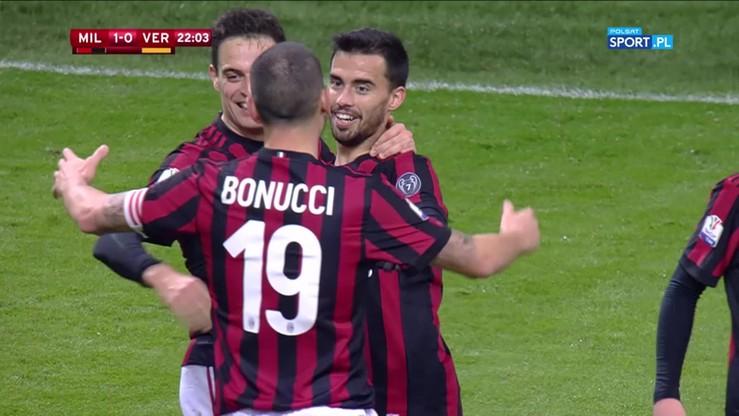 2017-12-13 AC Milan - Hellas Werona 3:0. Wszystkie bramki