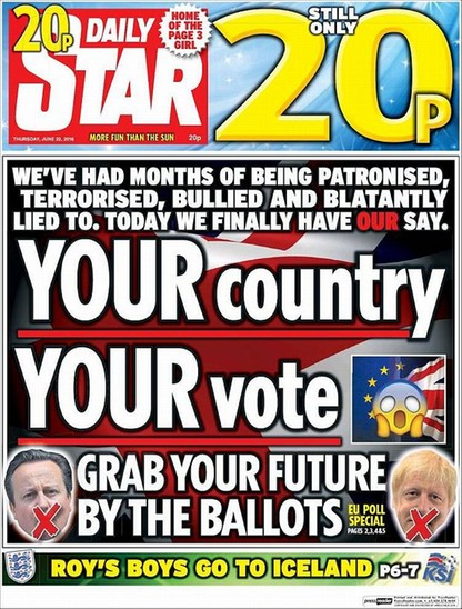 Brytyjska prasa podzielona ws. Brexitu [PRZEGLĄD OKŁADEK]