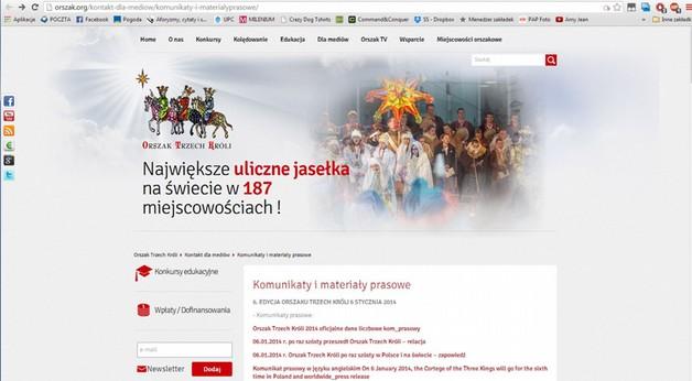 Orszak Trzech Króli - wielka warszawska parada (PAP)