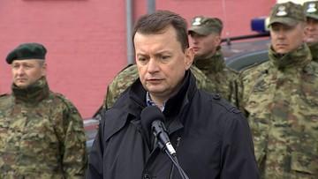 27-04-2016 13:48 Błaszczak: będziemy aktywnie chronić zewnętrzne granice UE