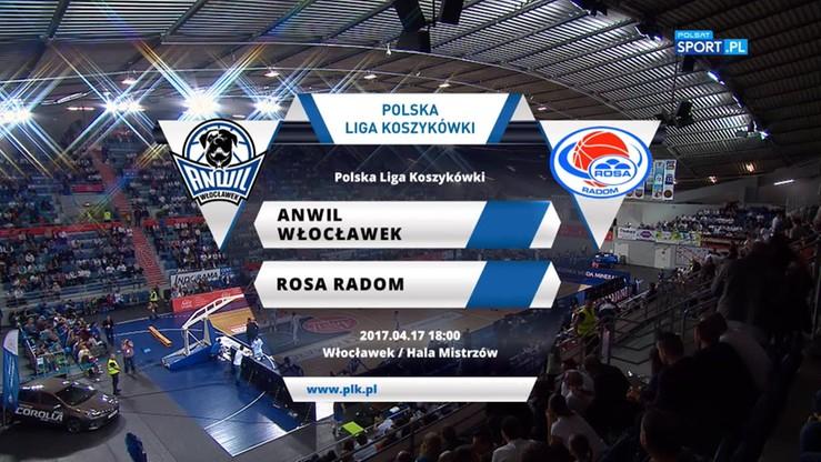 Anwil Włocławek - Rosa Radom 80:74. Skrót meczu