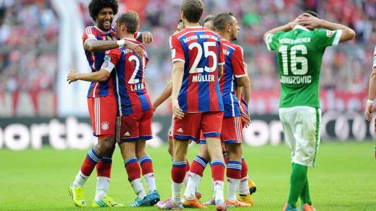 Bayern gromi Werder. Trwa kryzys Borussii Dortmund