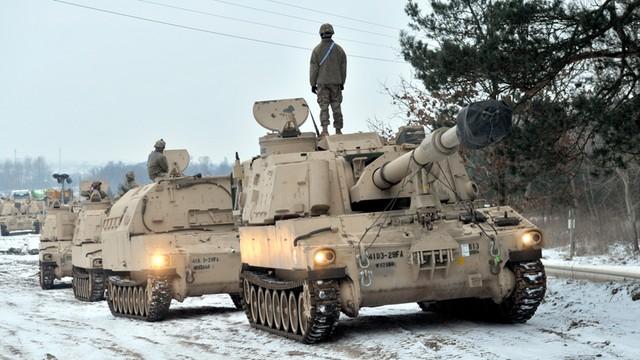 NATO: Amerykańskie czołgi są odpowiedzią na działania Rosji