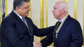 McCain zapewnił Poroszenkę o poparciu w walce z rosyjską agresją