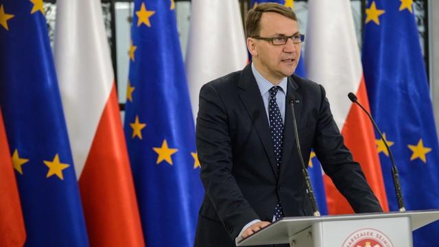 Sikorski krytykuje UE. Odeszła od wspólnej polityki zagranicznej