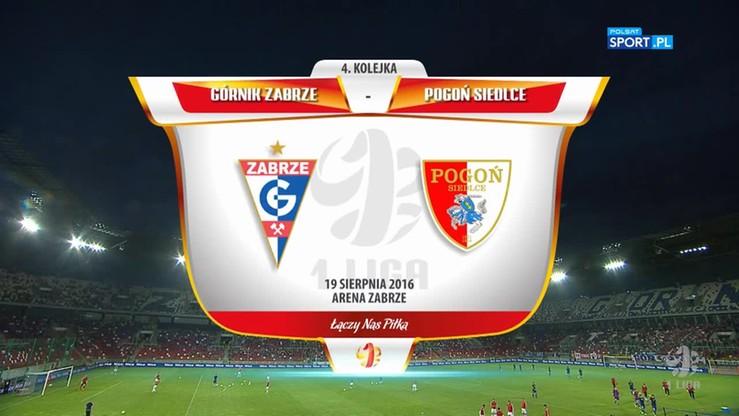 2016-08-19 Górnik Zabrze - Pogoń Siedlce 2:0. Skrót meczu