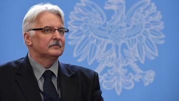 14-12-2015 16:37 Waszczykowski: wypowiedź szefa PE nieuprawniona i skandaliczna