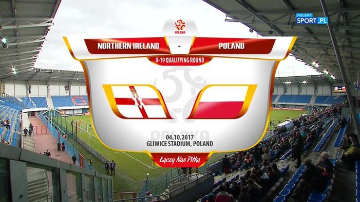 Polska U-19 - Irlandia Północna U-19 2:1. Skrót meczu