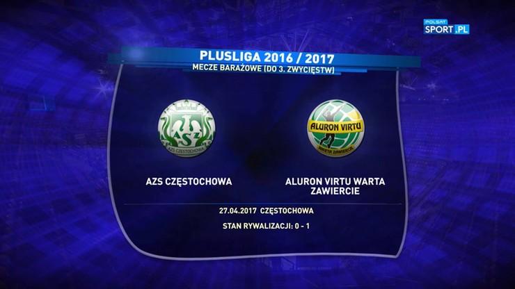 AZS Częstochowa - Aluron Virtu Warta Zawiercie 3:1. Skrót meczu