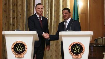 08-05-2017 12:49 Prezydenci Duda i Teshome: zwiększyć wymianę handlową miedzy Polską i Etiopią