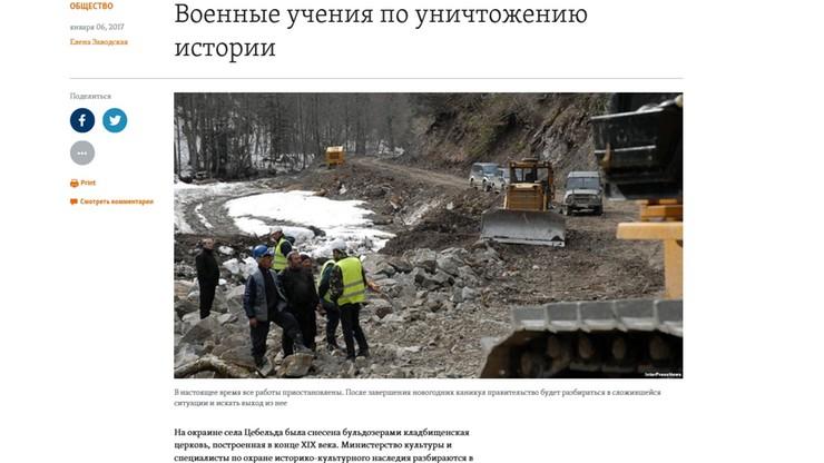"""Zniszczono polski kościół i cmentarz w Abchazji. """"To akt wandalizmu"""""""