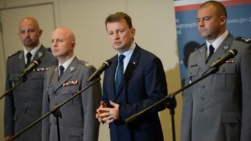 """30-05-2016 16:56 Funkcjonariusze, którzy zatrzymali """"bombera"""", odznaczeni"""