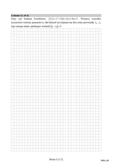 Matura: rozszerzona matematyka