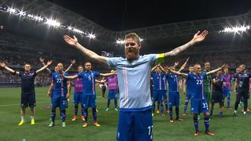 Islandczycy świętują sensacyjny awans z kibicami (WIDEO)