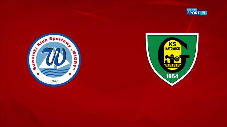 Wigry Suwałki - GKS Katowice 3:2. Skrót meczu
