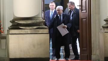 """20-10-2017 19:27 """"Prezydent ma zastrzeżenia do części poprawek PiS"""". Łapiński po spotkaniu prezydenta z prezesem PiS"""