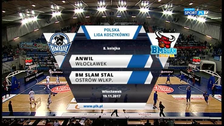 Anwil Włocławek - BM Slam Stal Ostrów Wlkp. 78:76. Skrót meczu
