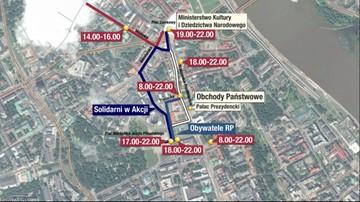 10-04-2017 10:16 Manifestacje w Warszawie w rocznicę katastrofy smoleńskiej