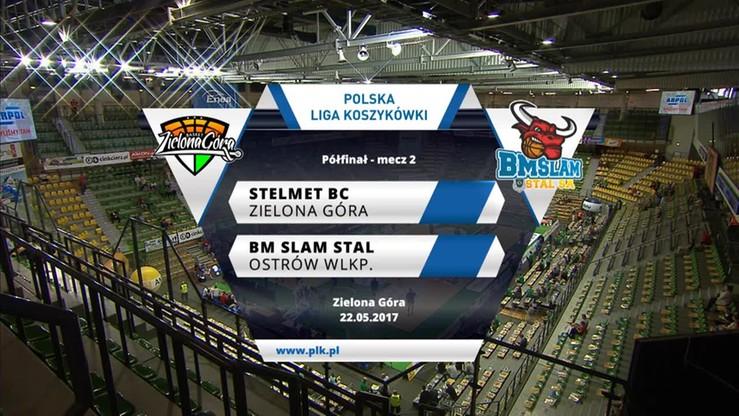 Stelmet Zielona Góra - BM Slam Stal 89:74. Skrót meczu
