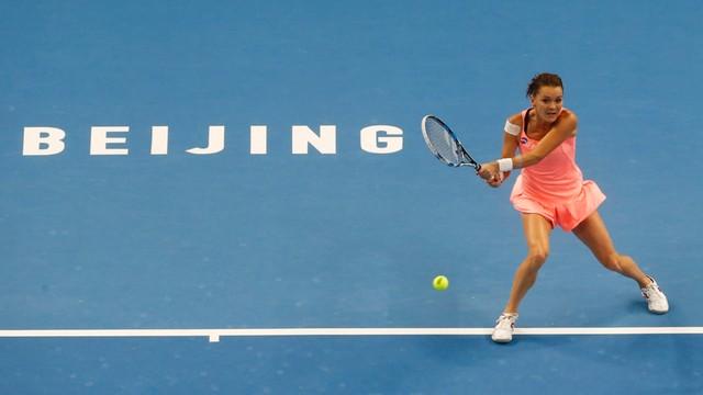 Turniej WTA w Pekinie: Radwańska pokonała Wozniacki i jest w ćwierćfinale