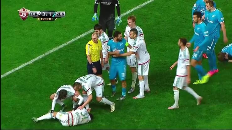 Rybus prawie stracił nogę! Czerwona kartka dla gracza Zenita po faulu na Polaku