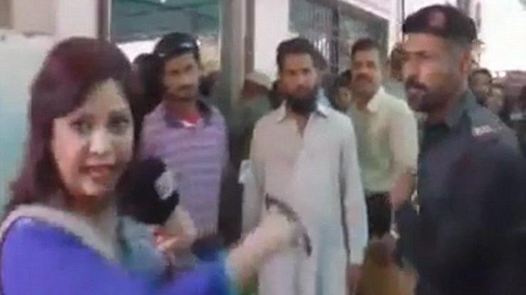 Policjant uderzył dziennikarkę w twarz przed kamerami. Jest dochodzenie