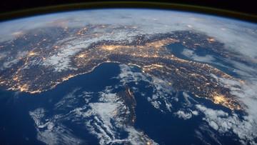 26-01-2016 19:50 Morze Śródziemne i Alpy z orbity w obiektywie Brytyjczyka