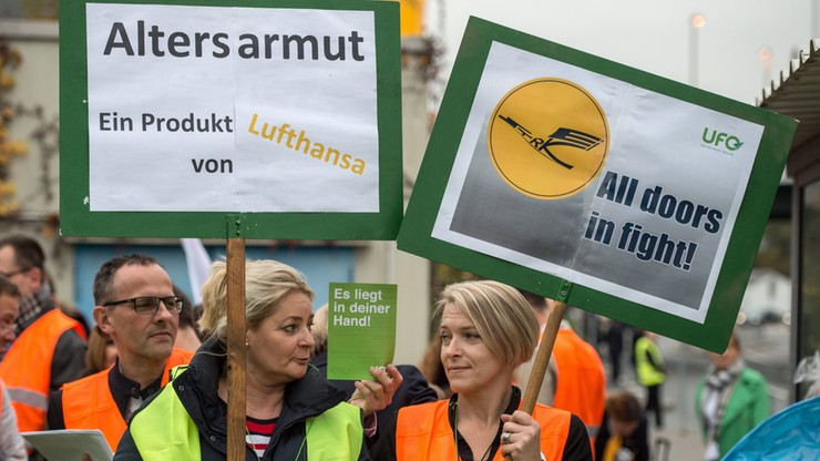 Rozpoczął się strajk pracowników Lufthansy. Potrwa 8 dni