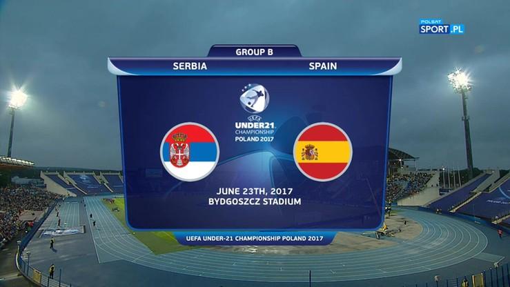 Euro U-21: Serbia - Hiszpania 0:1. Skrót meczu