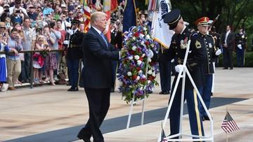 29-05-2017 22:01 Donald Trump złożył hołd poległym żołnierzom