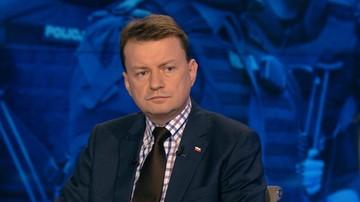 """25-05-2016 20:58 """"Policjanci zachowali się jak barbarzyńcy"""" - Błaszczak o zatrzymaniu córki radnej PiS"""