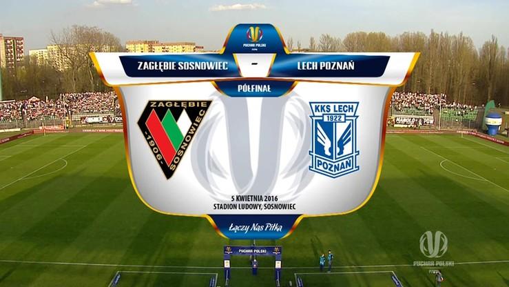 Zagłębie Sosnowiec - Lech Poznań 1:1. Skrót meczu