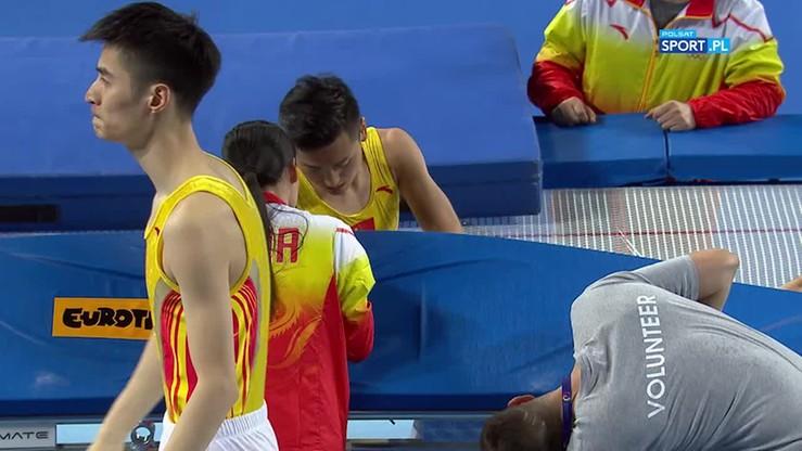 Fatalny błąd mistrza olimpijskiego! Wpadł w dziurę trampoliny