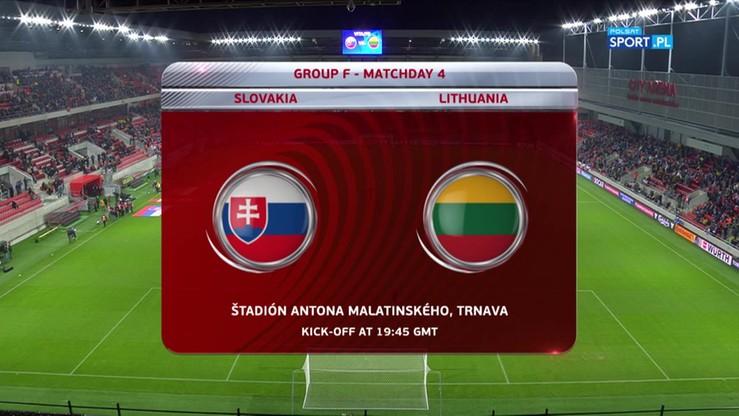 2016-11-12 Słowacja - Litwa 4:0. Skrót meczu