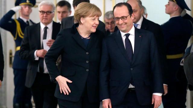 Merkel i Hollande wystąpią razem w Parlamencie Europejskim