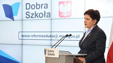 08-11-2016 15:34 Premier Szydło: jesteśmy przygotowani do przeprowadzenia reformy oświaty