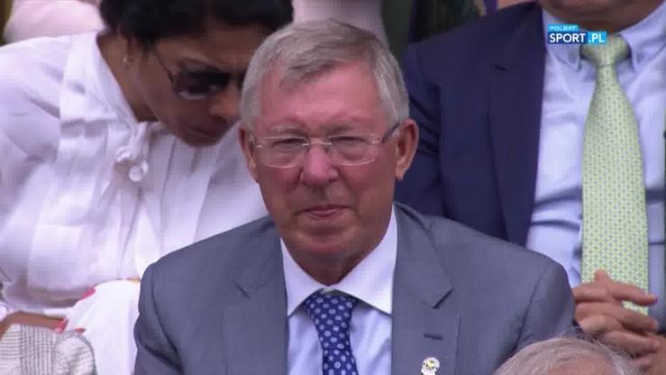Sir Alex Ferguson przyłapany na trybunach Wimbledonu