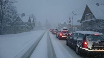 2016-02-10 Zakopane: ustał halny, zaczęła się śnieżyca. Z Zakopanego do Jurgowa jedzie się 3 godziny!