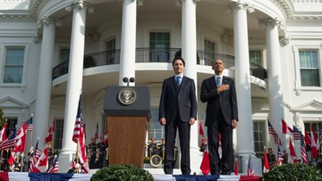 10-03-2016 20:51 Obama i premier Kanady ogłaszają wspólną walkę z ociepleniem klimatu