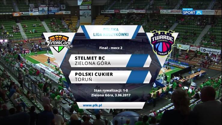 Stelmet BC Zielona Góra - Polski Cukier Toruń 87:66. Skrót meczu