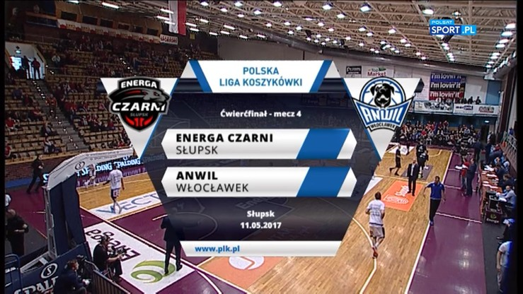 Energa Czarni Słupsk - Anwil Włocławek 83:76. Skrót meczu