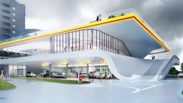 2016-10-12 Trzy piętra, wiszące z sufitu dystrybutory. Stacja benzynowa przyszłości ma powstać w Warszawie