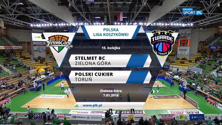 Stelmet Zielona Góra - Polski Cukier Toruń 100:76. Skrót meczu